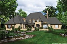 Featured in the 2007 Portland Street of Dreams. Plan 2459 The Terrebonne is a 4352 SqFt European, French Country, Storybook style home plan featuring Bonus Room, Covered Patio, Guest Suite, His & Hers Closets, Hobby Room, Jack & Jill Bathroom, Mud Room , Outdoor Kitchen, and Walk-In Pantry by Alan Mascord Design Associates. View our entire house plan collection on Houseplans.co.