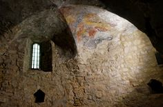 (VIEW 1 OF 3) | Pécsvárad Castle, 10. century chapel | Hungary, Baranya County.  Fortress and Benedictine monastery, founded in 988. www.pecsvaradivar.hu/en/history-of-the-castle Pécsváradi vár,  10. sz-i kápolna. www.pecsvaradivar.hu/a-var-tortenete