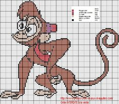 Voici Abu, le petit singe, un des personnages du dessin animé Aladin en grille gratuite :