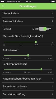 Passe dein Beamie-Hoverboard über die kostenlose App an dein Können an. Die individuellen Einstellungen machen es möglich.