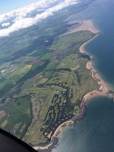 The golf courses in Gullane, East Lothian, Scotland.