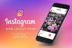 NEW Instagram UI Kit by Tony Craig on @creativemarket