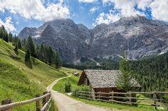 La Valle - La Val - Wengen,1.600 mt. ca. (Sass da les Nu, Sasso delle Nove e sentiero per l'Alpe di Fanes) | Flickr - Photo Sharing!