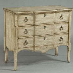 Rustic Chic Accent Chest in Aged Ivory