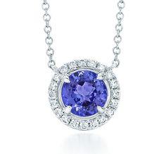 Tiffany & Co. | Item | Tiffany Soleste® pendant in platinum with diamonds and a tanzanite. | United States