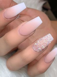 nails french ombre / nails french nails french tip nails french ombre nails french design nails french tip color nails french manicure nails french de colores nails french tip with design Best Acrylic Nails, Acrylic Nail Designs, Nail Art Designs, Matte Nail Art, Ombre Nail Designs, Diamond Nail Designs, Nail Crystal Designs, Best Nails, Matte White Nails