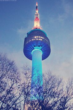 N Seoul Tower - Seoul - Korea ( I ran to this tower a few times, always awesome to see)