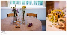 Sam and Hilary, Lynchburg Wedding Session 2014, Sierra Vista, Mr and Mrs Seats, Table, S, Flowers, Centerpiece