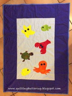 Quilting Buttercup: Under the Sea Baby Quilt