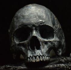 sterling silver mens ring skull ring biker masonic by Bakogiorgis