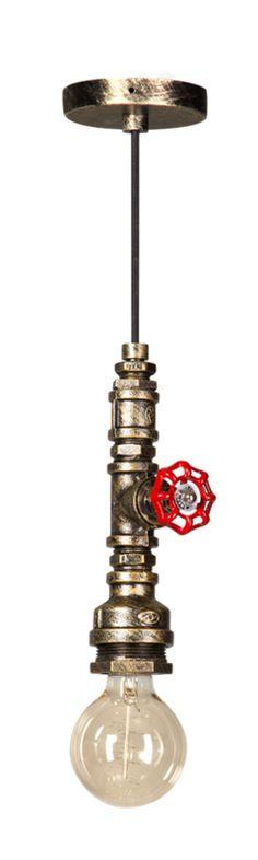 Fire Hose hanglamp zwart/goud