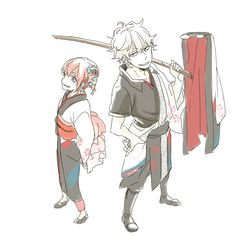 Kagura and Gintoki - Gintama Manga Cute, Okikagu, Anime Crossover, Anime Ships, Doujinshi, Anime Love, Drawing S, Art Pictures, Samurai
