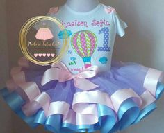 hot air balloon birthday outfit  - oh the places you'll go tutu outfit  - Hot…