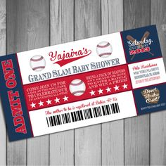 Boston Red Sox Inspired Baseball Baby Shower by CLaceyDesign, $15.00