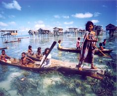 "The Bajau people, commonly known as ""sea nomads,"" live in coastal regions of the Philippines, Malaysia, and Indonesia. No one really knows the exact origin of this tribe but they are sure hell the most unique ones I have come across so far in my life. Regions Of The Philippines, Philippines Culture, Philippines Travel, Bajau People, Mergui Archipelago, Indigenous Tribes, Mindanao, Tonle Sap, Ha Long Bay"