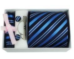 Luxusná kravatová súprava s tyrkysovým pásikavým vzorom. Luxusná kravata je doplnkom Vašej osobnosti. Bude vám slúžiť pri každodennom nosení alebo pri sviatočnej príležitosti. Dodajte svojmu oblečeniu originalitu a štýl. http://www.hodvab.eu