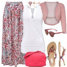 Freizeit Outfits: Maxirock bei FrauenOutfits.de #fashion #fashionista #mode #damenmode #frauenmode #frauenoutfit #damenoutfit #outfit #frühling #sommer #modetrend #trend2018 #modetrend2018 #ootd #trend #sweet