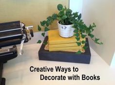 How to Decorate with Books- SO many great ideas!  Love this!