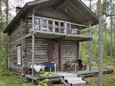 This is perfect Cabins And Cottages, Log Cabins, Rustic Cabins, Little Cabin, Cabins In The Woods, Weekend Getaways, Country Style, Finland, Exterior