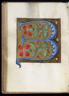 """""""W"""" Leaf from Alphabet Book   France; Paris   16th century   Walters Art Museum   Accession #: W.200.29V"""