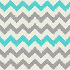 Aqua Grey Chevron fabric by bluenini for sale on Spoonflower