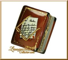 Limoges - Leather Book w/ Glasses - by Beauchamp