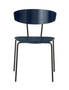 herman chair ferm living dark blue