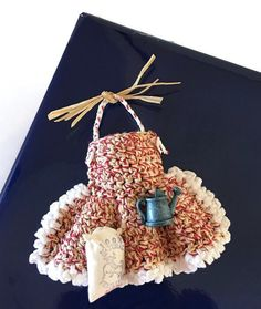 """Mini """"Gardening"""" Apron Gift Bag with """"Watering Can and Bag of…"""