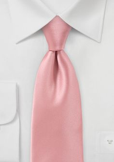 Peach Petal Pink Mens Necktie