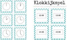 Klokkijkspel Juf Lisanne - oefenen met analoog en digitaal klokkijken. Gratis download! // Time-telling game with analogue and digital clocks. Free download!