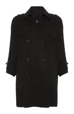 Primark - Black Short Soft Mac Coat