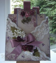 Craftingallday Creations: Criss Cross Lilac ~ and a sad farewell to...