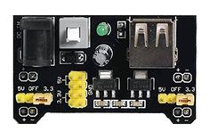 3.3V/5V Output MB102 Breadboard Power Supply Module Power Electronics, Bread Board, Power Led, 3 Things, Easy To Use, Light Up, Building, Projects, Diy