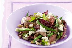 This protein-packed dish gets a nutritional boost from green beans and treviso lettuce.