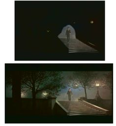 Mr Banks reflects...  one of several matte shots showing David Tomlinson on his lonely night time walk across London - all shot on minimal sets and completed using extensive and undetectable matte art.  Matte Shot - a tribute to Golden Era special fx: MARY POPPINS - the supercalifragulous visual effects of a Disney favourite