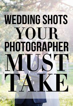 Wedding Shots Your Photographer Must Take