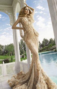 mermaid gown ivory