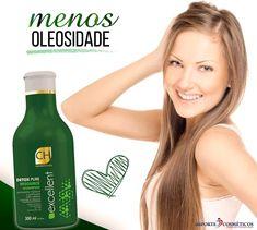 ADEUS OLEOSIDADE! O Shampoo CH Detox Excellent Pure foi elaborado com diversos ativos naturais para desintoxicar e remover as impurezas do couro cabeludo 😉 #FimDaOleosidade