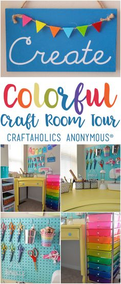 'Craft Room Tour with Coastal And Crafty...!' (via Craftaholics Anonymous®)