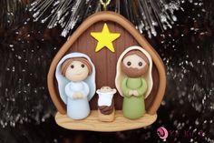 Salt Dough Christmas Ornaments, Clay Christmas Decorations, Christmas Cake Designs, Christmas Nativity Set, Polymer Clay Christmas, Christmas Art, Christmas Projects, Polymer Clay Ornaments, Polymer Clay Crafts