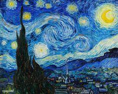Starry Night 1889 Vincent van Gogh Oil on canvas Canvas Art - x Vincent Van Gogh, Starry Night Original, Desenhos Van Gogh, Van Gogh Arte, Kit Pintura, Van Gogh Pinturas, Famous Artwork, Van Gogh Paintings, Oeuvre D'art