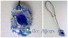 Handmade necklace with blue beads