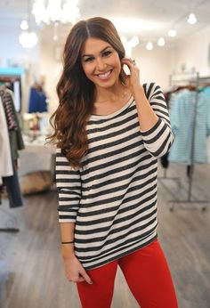 Dottie Couture Boutique - Striped Top- Black, $36.00 (http://www.dottiecouture.com/striped-top-black/)