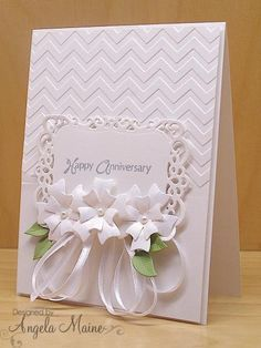 Anniversary card using up previously stamped, die cut and embossed parts. Wedding Shower Cards, Wedding Cards, Pretty Cards, Love Cards, Happy Anniversary Cards, Handmade Anniversary Cards, Anniversary Funny, Karten Diy, Engagement Cards
