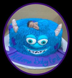 Sully baby shower cake