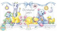 Cross Stitch Kit ~ Dimensions Baby's Friends Animals Bi...