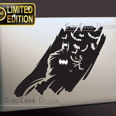 "Limited Edition Macbook decal, Batman black vinyl sticker for Macbook, Mac pro,  Mac air 11', 13"", 15"", 17"""