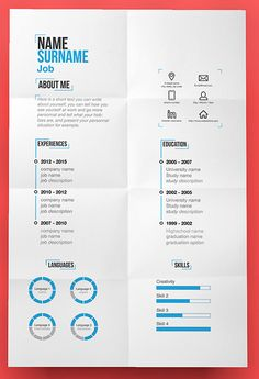Free Psd Professional Business Resume  Creative