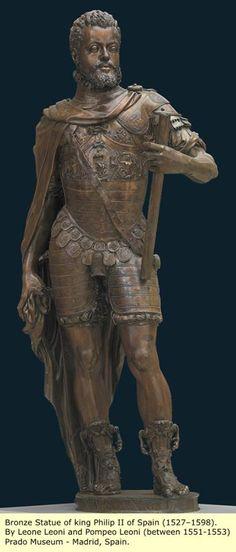 The Holy Roman Emperor Phillips II Hapsburg, son of the Holy Roman Emperor Charles V. Husband of Mary Tudor, daughter of Henry VIII.