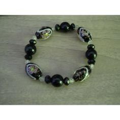 bracelet noir perles de verre. Voir plus. johnny hallyday